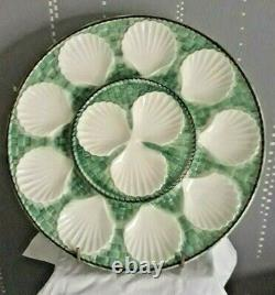 13 Antique French Oyster Plate LONGCHAMP