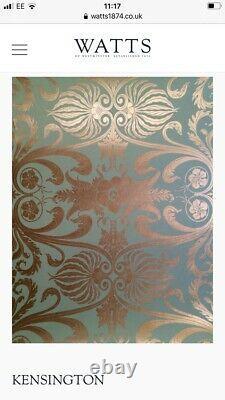 3x Watts of Westminster Wallpaper Kensington WiseGreen ArtNouveauStyle