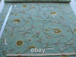3y Scalamandre Sindia In Green Aqua Blue Wool Crewel Msrp$300/y