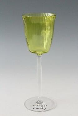 4x Art Nouveau crystal White Wine Glass, Jugendstil Stengelglas Otto Prutscher