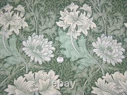 5 Rolls Sanderson William Morris Green CHRYSANTHEMUM Wallpaper WM7612/2