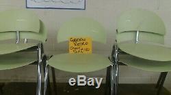 70s/80s Chair Designer retro Green Lounge Chrome Legs Dining Funky Retro 70's