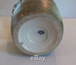 AMPHORA Czechoslovakia Art Nouveau Pottery 10.75 Bird Vase