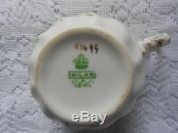 ANTIQUE VINTAGE CHINA TEA SET MILAN & SONS NO. X1499 Circ 1900-1919 GREEN GOLD