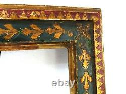 ART NOUVEAU, HAND MADE GOLD / GREEN /RED FRAME 13 1/2 X 10 1/2 INCH (c-16)