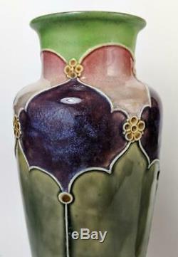 ART NOUVEAU ROYAL DOULTON FLORRIE JONES PAIR VASES c1910's