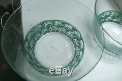 A FINE and BEAUTIFUL PAIR of VERY RARE Lalique sugar bowls or small fruit bowls
