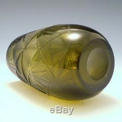 A Legras Cubism Inspired Vase c1930