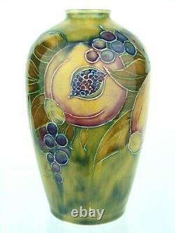 A Rare Wm Moorcroft for Liberty & Co Pomegranate on Ochre Pattern Vase