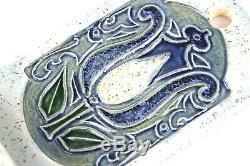 A Very Nice Antique Rare Doulton Lambeth Art Nouveau Wall Font By Fanny J Allen