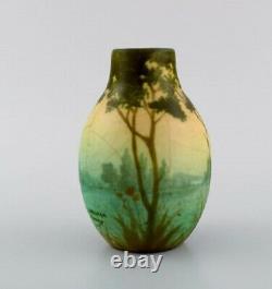 Amalric Walter (1870-1959) for Nancy. Rare vase in glazed ceramics. 1890's