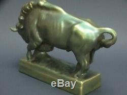 American Buffalo Bull Ox Hungarian porcelain Zsolnay Pecs Eosin 1900 no Herend