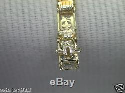 Antique Art Deco Vintage Filigree Bracelet 14K Green Gold 6.75 5.01 MM Wide