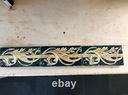 Antique Art Nouveau Border Tiles Set