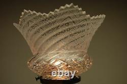Antique Art Nouveau French Cherub Angel Figural Boudoir Lamp Cut Glass Shade Old