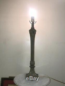 Antique Art Nouveau Riviere Studios (type) Bronze Art Lamp Base Tiffany Era Ny