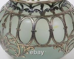 Antique Art Nouveau Sterling Silver Mounted Glass Vase c1900/10