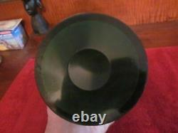 Antique Art Nouveau Sterling Silver Overlay Glass Pitcher, emerald green glass