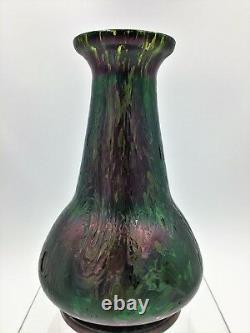 Antique Bohemian ca. 1905 Kralik Art Nouveau Period Art Glass Vase Loetz Era