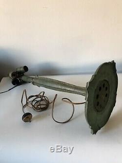 Antique Bradley Hubbard Arts & Crafts Bronze & Glass Lamp Vintage Art Nouveau