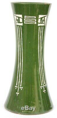 Antique Charles Rennie Mackintosh Pottery Tubelined Vase Circa 1900