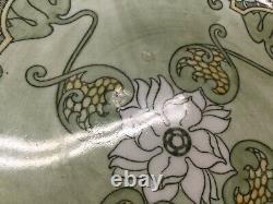 Antique Doulton Burslem KELMSCOT Water Lilies Art Nouveau Ironstone Large Bowl