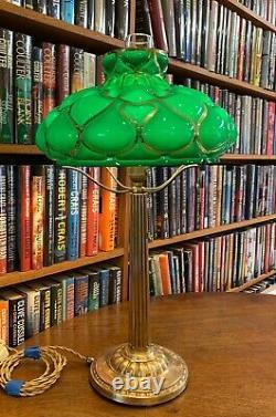 Antique Emeralite Desk Lamp Miller Bradley & Hubbard Handel Empire styles