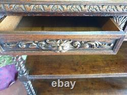 Antique Gothic Oak Green Man Buffet! @@ FREE UK DELIVERY @@