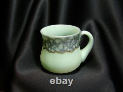 Antique Green Opaque Satin Glass Tumbler New England Glass Co. Rare