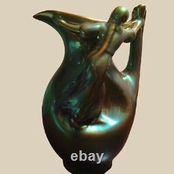 Antique Hungarian Zsolnay Eosin Vase