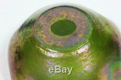 Antique LOETZ Art Nouveau Bohemian Iridescent Oil Spot Papillion Glass Bowl Dish