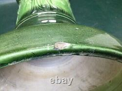 Antique McCoy Art Pottery Majolica Avenue of Trees Jardiniere Stand Pedestal