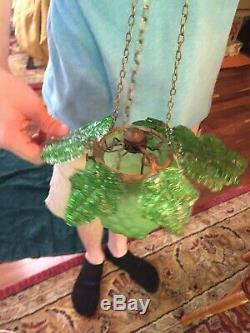 Antique Victorian Murano Or Czech Glass Grape Cluster Hanging candle lamp