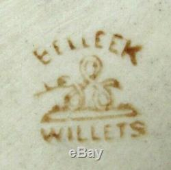 Antique Willets Belleek 14.5 Hand Painted Porcelain Vase Daffodil Jonquil