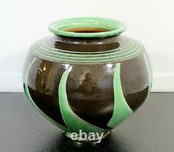 Art Deco Nouveau Herman Kahler Ceramic Hand Thrown Signed Vase Early 20th Danish