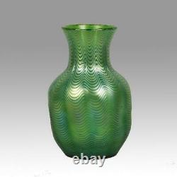 Art Nouveau Czech Candia Phanomen Vase by Johann Loetz