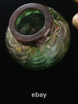 Art Nouveau Kralik Draped Inkwell Iridescent Lady Jungendstil German marked