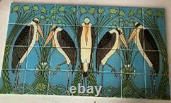 Art Nouveau Marabou Ceramic Tile Mural Backsplash 30x17 William Morris