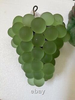 Art Nouveau Murano Czech Glass Grape Cluster Fruit Figural Chandelier G1