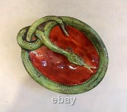 Art Nouveau Snake Bowl, Tray, Antique Hand Made