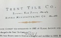 Art Nouveau Trent Art Pottery High Relief Tile Plaque