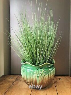 Art Nouveau Wf Needham Queen Anne Dripglaze Pottery Plant Pot Planter Jardiniere