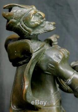 Auguste de Wever Bronze marble Statue Sculpture Satan Devil Mephisto Antique