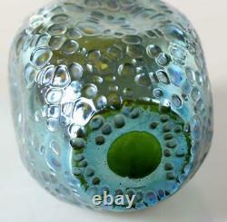 Beautiful Large Art Nouveau Loetz Art glass decor Crete Diaspora blue/green