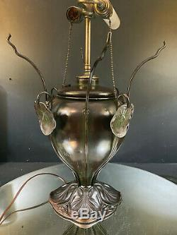Bradley & Hubbard Lamp-RARE-Water Lilies-Repairable As Is-BUY IT NOW