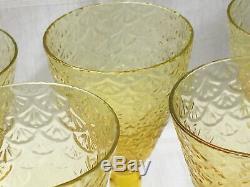 C1920 SWEDISH ART GLASS, PUKEBERG, SWEDEN ROYAL FAN or TURKEY TRACKS STEMS