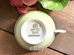 C. 1930's AYNSLEY VTG FORTUNE TELLING Teacup & Saucer The Cup of Knowledge- RARE