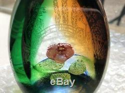 Caithness WaterLily Reflections Colin Terris Engraved #119 Paperweight Limited