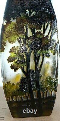 Contemporary Tozay Art Nouveau Galle Style Landscape Vase