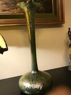 $Drop Candia Papillon Loetz Austria Art Nouveau Phanomen Iridescent Vase